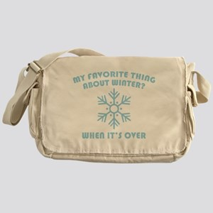 Favorite Thing About Winter Messenger Bag