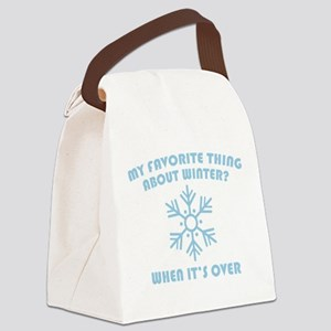 Favorite Thing About Winter Canvas Lunch Bag
