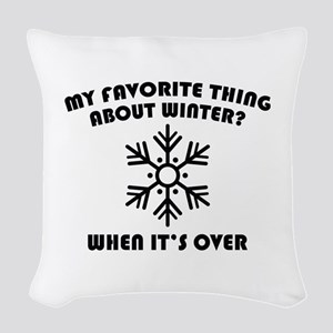 Favorite Thing About Winter Woven Throw Pillow