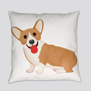 Pembroke welsh corgi dog showing t Everyday Pillow