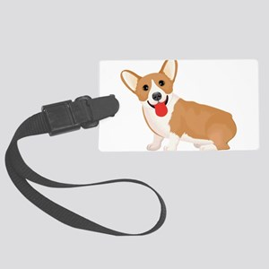 Pembroke welsh corgi dog showing Large Luggage Tag