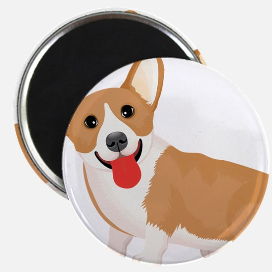 Pembroke welsh corgi dog showing tongue Magnets