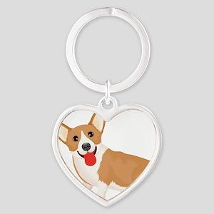 Pembroke welsh corgi dog showing tongue Keychains