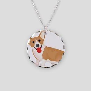 Pembroke welsh corgi dog sho Necklace Circle Charm