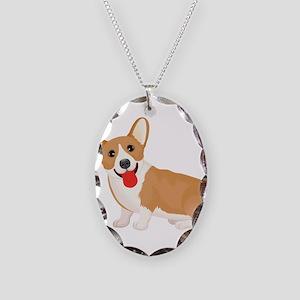 Pembroke welsh corgi dog showi Necklace Oval Charm