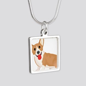 Pembroke welsh corgi dog showing tongue Necklaces