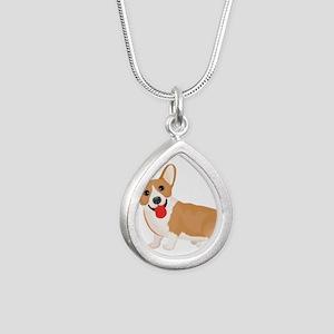 Pembroke welsh corgi dog showing tongue Necklaces