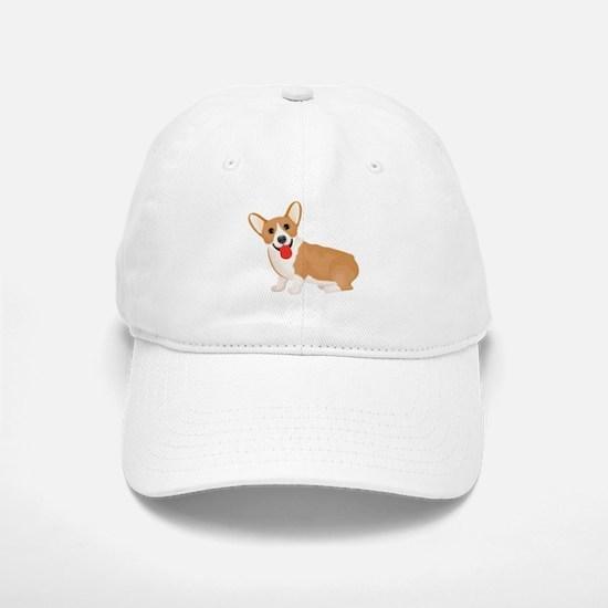 Pembroke welsh corgi dog showing tongue Baseball Baseball Cap