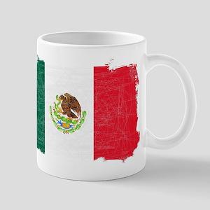 Mexican Flag Grunge Mugs