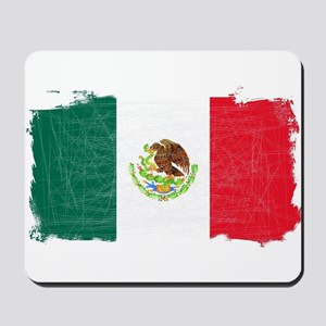 Mexican Flag Grunge Mousepad