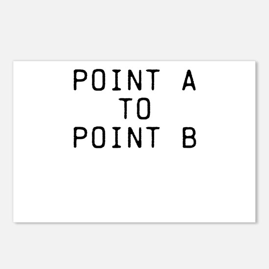POINT A TO POINT B Postcards (Package of 8)
