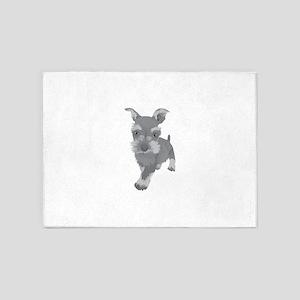 Cute Cesky terrier dog 5'x7'Area Rug