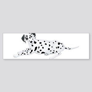 Sitting Dalmatian Bumper Sticker
