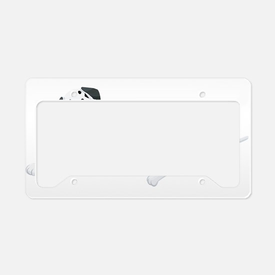 Sitting Dalmatian License Plate Holder