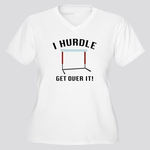 Get Over It! Women's Plus Size V-Neck T-Shirt