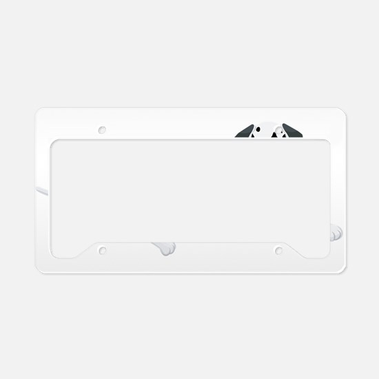 Dalmatian relaxing License Plate Holder