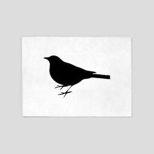 Profile of a bird clip art 5'x7'Area Rug