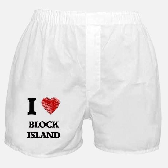 I love Block Island Rhode Island Boxer Shorts