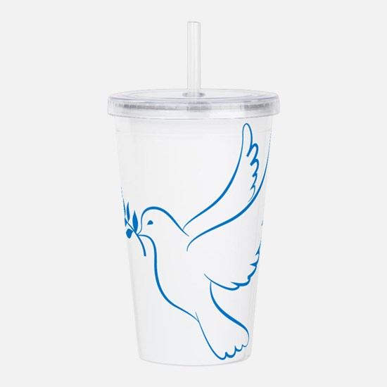 Dove of peace Acrylic Double-wall Tumbler