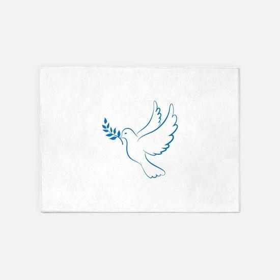 Dove of peace 5'x7'Area Rug