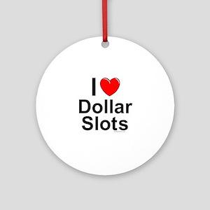 Dollar Slots Round Ornament