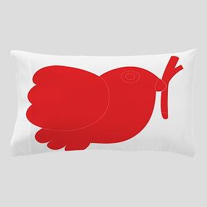 Simple red bird art Pillow Case