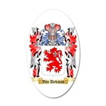Van Dykman 35x21 Oval Wall Decal