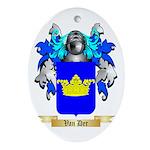 Van Der Oval Ornament