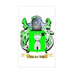 Van der Valk Sticker (Rectangle)