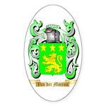 Van der Moeren Sticker (Oval 10 pk)
