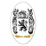 Van der Mere Sticker (Oval)