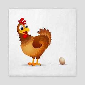 Chicken egg Queen Duvet