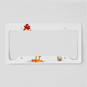 Chicken egg License Plate Holder