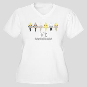 OCD Obsessive Cockatiel Disorder Plus Size T-Shirt