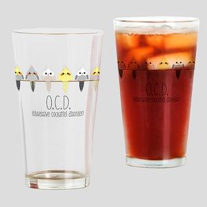 OCD Obsessive Cockatiel Disorder Drinking Glass