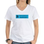 Rated B Women's V-Neck T-Shirt