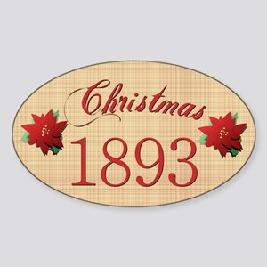 1893 Scrapbooking Christmas Oval Sticker