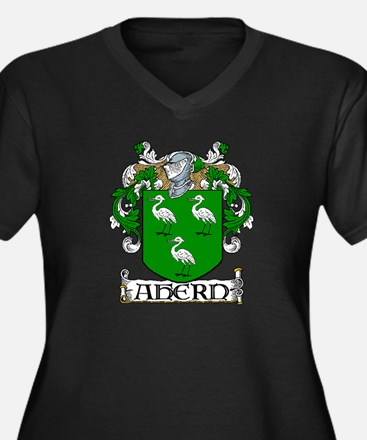 Ahern Coat of Arms Women's Plus Size V-Neck Dark T