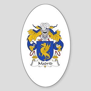 Madrid Oval Sticker