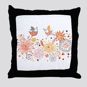 Combination of exquisite bird pattern Throw Pillow