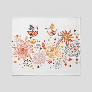 Combination of exquisite bird patter Throw Blanket
