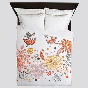 Combination of exquisite bird pattern Queen Duvet