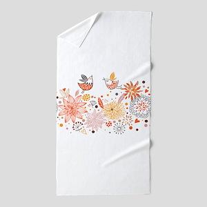 Combination of exquisite bird pattern Beach Towel