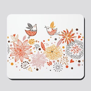 Combination of exquisite bird pattern Mousepad
