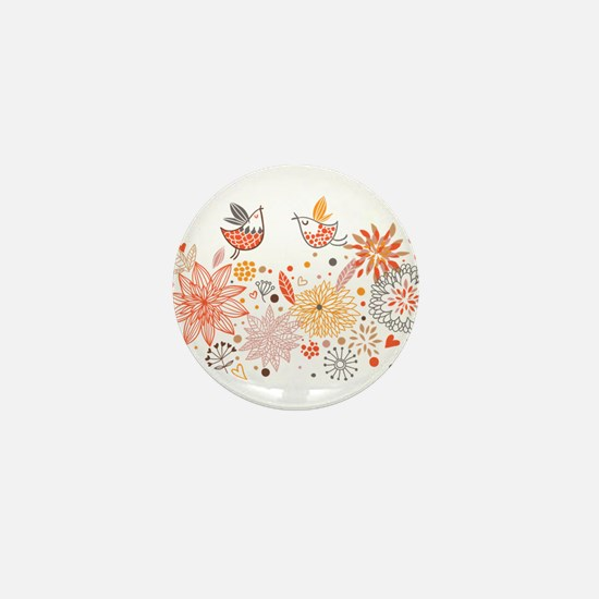 Combination of exquisite bird pattern Mini Button