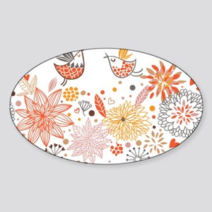 Combination of exquisite bird pattern Sticker