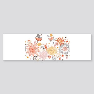 Combination of exquisite bird patte Bumper Sticker