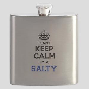 I can't keep calm Im SALTY Flask