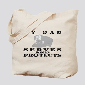 Serves & Protects Hat - Dad Tote Bag