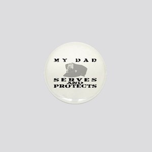 Serves & Protects Hat - Dad Mini Button